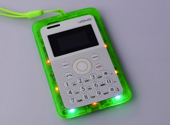 Transparent Style Kids Cardphone Colorful Style With Running Light Children Cellphone