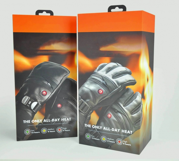 Hard-box Gloves Packaging Magnetic Close Custom Logo Made Flip Style