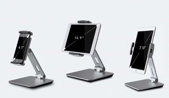Aluminum Phone Tablet Desktop Stand Universal Use For 4 To 14inch Free Rotating