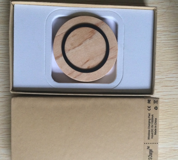 Natural Wooden Made Wireless Charger Pad