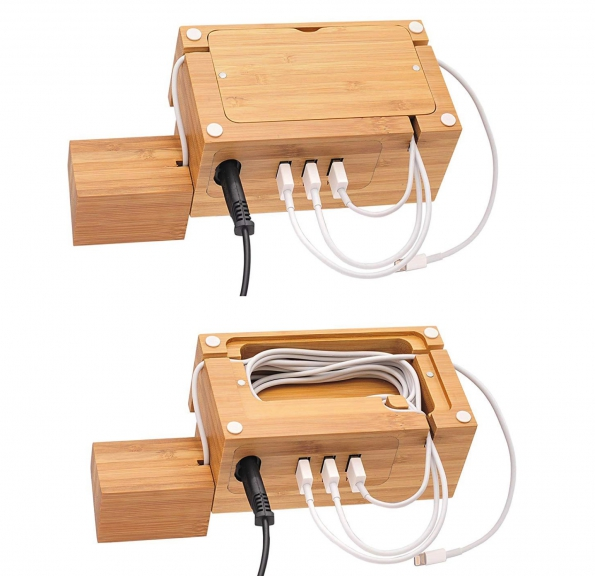 Multi-functions With 3X USB Charging Hubs With Holder To Watch Phone Earphone Card