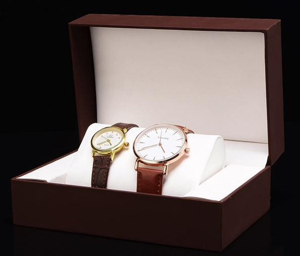 Pair Style Watches Box PU Leather Watch Box Customized OEM