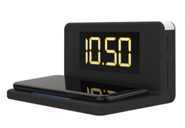 Wireless Charger LED Night Light With Alarm Clock 3-in-1
