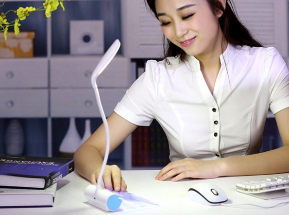 LED Desk Reading Lamp with Message Board Leaving Message to Your Loved One Or Children Much More Easy
