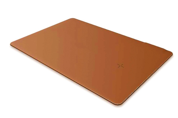 QI Wireless Charge Mouse Pad PU Leather 10W Power 5mm Thickness