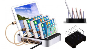 Tablet Cell Phone 6.8A Charging Hub Stand