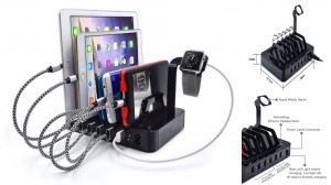 Stand With 6X USB Charging Hub