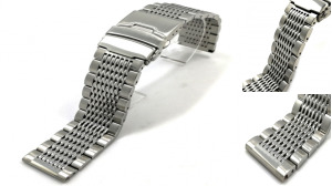Solid Steel 15 Beads Watch Strap