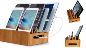 Wood Box Charging Stand